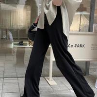 デイリーLength100〜ブラックストレートパンツ S-L