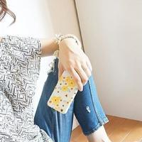 スマホケースAICA-44 フェアリーローズ×マーガレット Yellow iPhone6Plus/6sPlus、Xperia Z5 Premium(SO-03H)、ARROWS NX(F-02H)