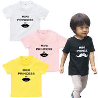 MINI PRINCESS 女の子ベビーTシャツ(Rips)文字ブラック