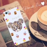 スマホケースAICA-27 Hungryベア ブルー iPhone5/5s/5c/6/6s/SE/Android
