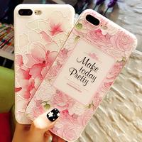 【在庫あり】バラor桜 ピンクシリコンiphoneケース