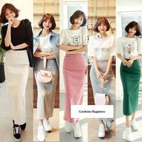 韓国スタイルステップスカート 5色/S-XL
