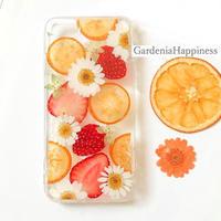 【在庫あり】イチゴ&オレンジ盛り沢山!! スマホケース iPhoneケース93