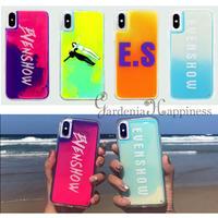 【1点在庫あり】ES ネオンカラー流砂スマホケース 4色/iphone11〜