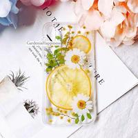 【在庫あり】オレンジスマホケース!!オレンジ ミモザ iPhoneケース スマホケース
