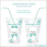 【ガラス用★単品】Anniversary Bear転写紙★ファニーフェイスBIG ホイップミント