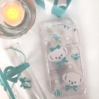 即納!【iPhoneケース】Anniversary Bear ギフトボックス ティファニーカラー