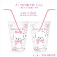 【ガラス用★単品】Anniversary Bear転写紙★ファニーフェイスBIG ベビーピンク