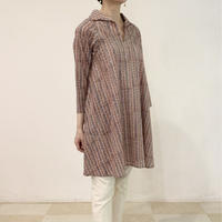 Sanganer Block Printed A Line Blouse (Stripe)