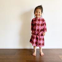 Hand Block Print Skirt #2 (Pink Circle)