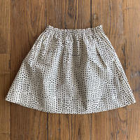 Hand Block Print Skirt #6 (Black Dots)