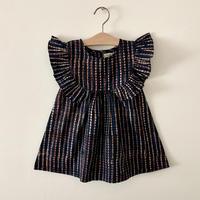 GAYA Renu, Frilly Dress (Indigo Check)