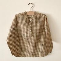 GAYA Renu, Short Kurta Shirt (Black & Yellow Small Check)