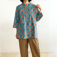 Sanganer Flower Print Tunic (Red Lilly & Buta)
