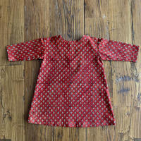 Hand Block Print Dress #3 (Red Clove)