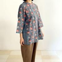 Sanganer Flower Print Tunic (Marigold & Buta)