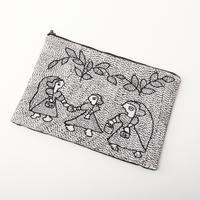 スージニ刺繍 ポーチ(大)