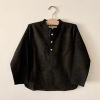 GAYA Renu, Short Kurta Shirt (Black & Black Flower)