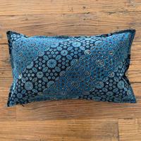 Hand Block Printed Cushion Cover 30*50 (Indigo Milky Way)