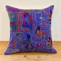Sujini Cushion Cover 40*40 (Well and women) Purple