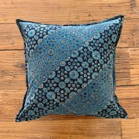 Hand Block Printed Cushion Cover 45*45 (Indigo Milky Way)
