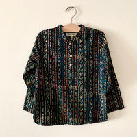 GAYA Renu, Short Kurta Shirt (Barotra Green Stripe)