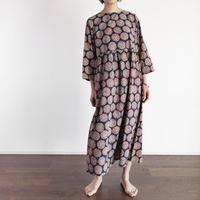 Hand Block Printed Dolly Maxi Dress (Blue Marigold)