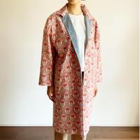 Sanganer Print  Spring Coat (White Marigold)