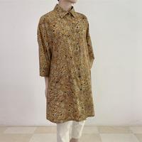 [One of a Kind] Hand Block Printed Tunic Shirt (Kalamkari Flower)