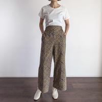 Hand Block Printed Wide Pants (Ajrakh Beige Star)