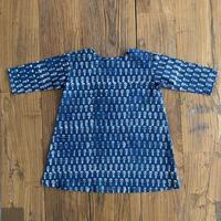 Hand Block Print Dress #4 (Indigo Buta)