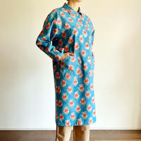 Sanganer Print  Spring Coat (Red Lilly)