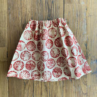 Hand Block Print Skirt #1 (Red Marigold)