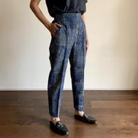 Hand Block Printed Side Border Pants (Indigo)