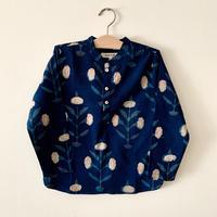 GAYA Renu, Short Kurta Shirt (Indigo Marigold)
