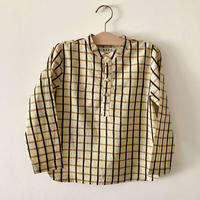 GAYA Renu, Short Kurta Shirt (Black & Yellow Big Check)