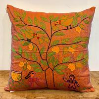 Sujini Cushion Cover 43*43 (Tree of life and lovers) Mango
