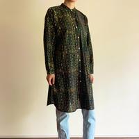 Hand Block Printed Dolman Long Shirts (Barotra Green Stripe)