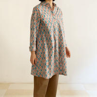Sanganer Flower Print  A Line Shirt (Lilly)