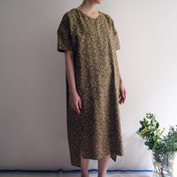 Hand Block Printed Comfy Dress ( Yellow Ajrakh )