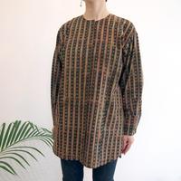 Hand Block Printed Fly Shirts ( Dabu #2 )