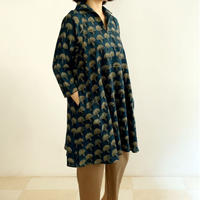 Hand Block Printed A Line Blouse (Marigold)