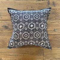 Hand Block Printed Cushion Cover 45*45 (Black Riyal)