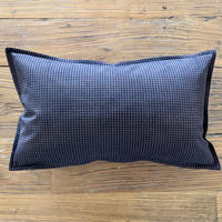 Hand Block Printed Cushion Cover 30*50 (Brown Check)