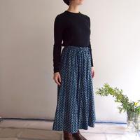 Hand Block Printed Mermaid Skirt ( Indigo Zig-Zag)