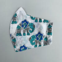 Hand Block Printed Face Mask (Elephant)