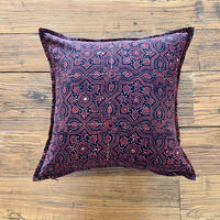 Hand Block Printed Cushion Cover 45*45 (Brown Star)