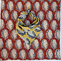 Hand Block Printed Handkerchief (Cotton Ball)