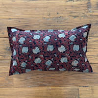Hand Block Printed Cushion Cover 30*50 (Lotus Arabesque)