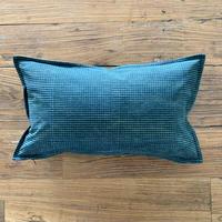 Hand Block Printed Cushion Cover 30*50 (Green Check)